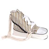 Sneaker Bag (brown, striped)