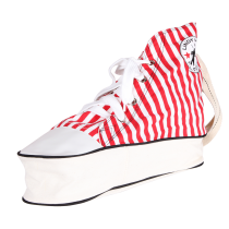 Sneaker Bag (red, striped)