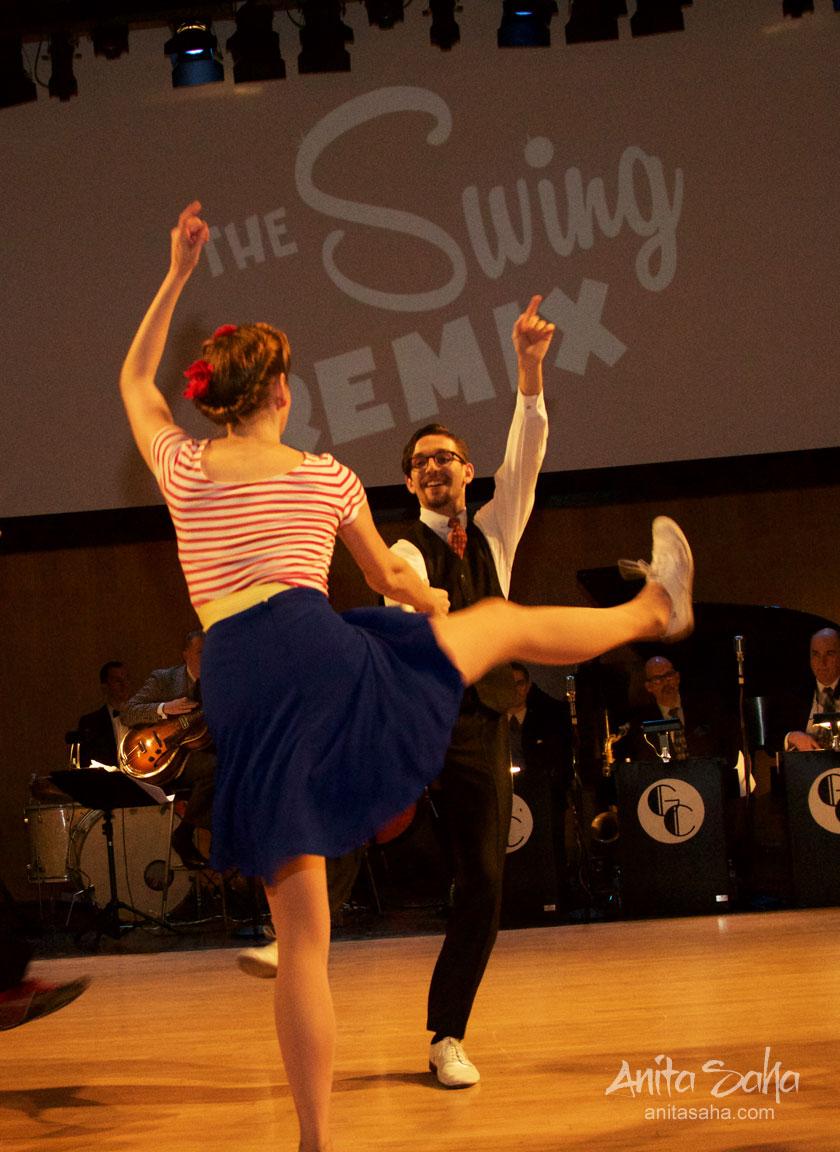 Adrienne & Rafal during Rhythm Stompers show
