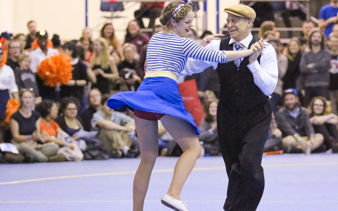 Lindy Hop dance couple