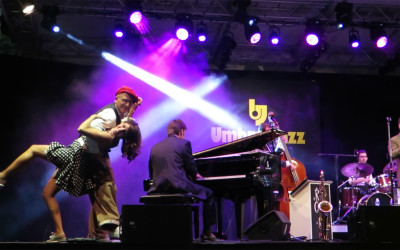 On Stage at the Umbria Jazz Festival