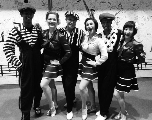 The Rhythm Stompers backstage at JALC
