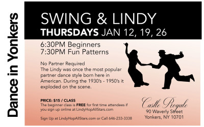 Swing & Lindy Classes in January